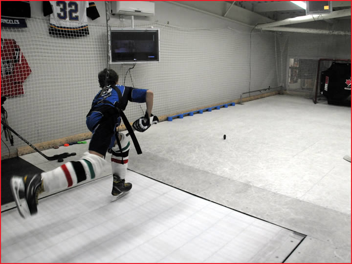 Hockey Skating Treadmill in Action
