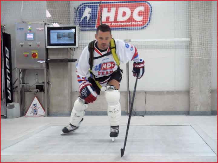 Hockey Skating Treadmill Professional Edition in Action